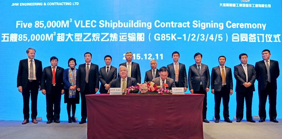 Milestones Come In Pairs With Launching Of The First 85.000 CBM VLEC (Very Large Ethane Carrier) And Steel Cutting Of The Second